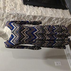 NWT Nina Leonard Pattern 3/4 sleeve dress